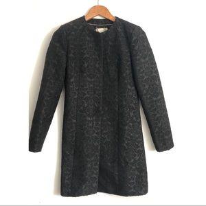BB Dakota Wool Coat Black Paisley XS